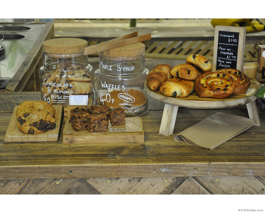 There's also a range of sweet treats, including cookies and pastries.
