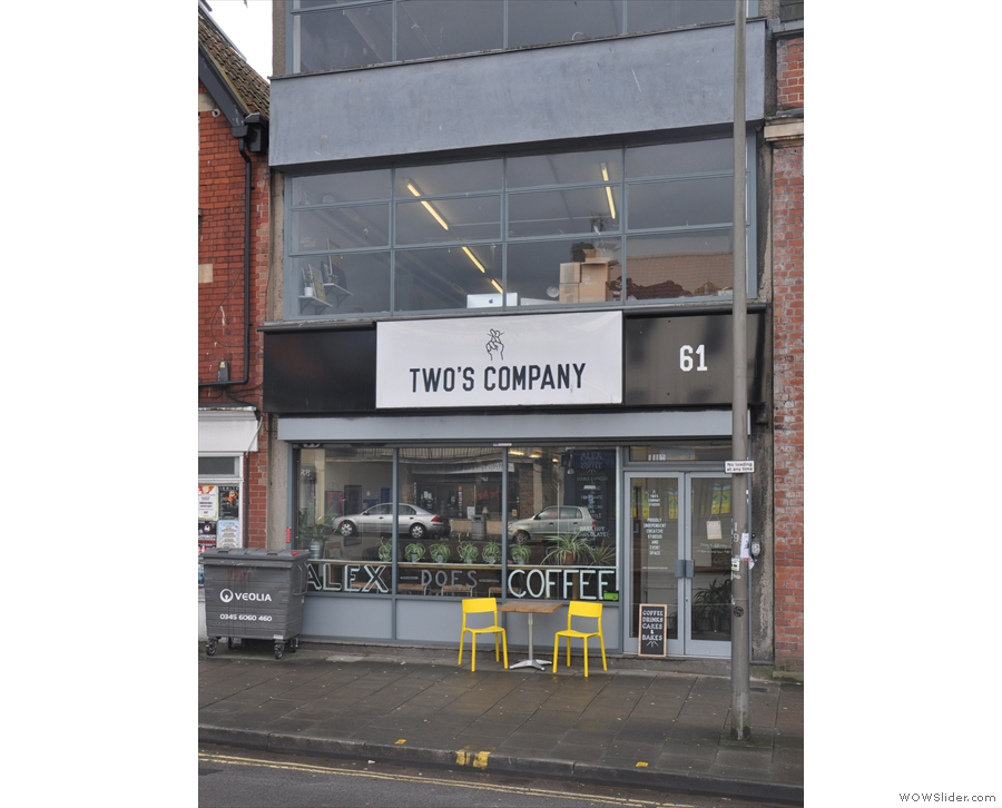 What's this on the south side of Bristol's Old Market Street? Two's Company?