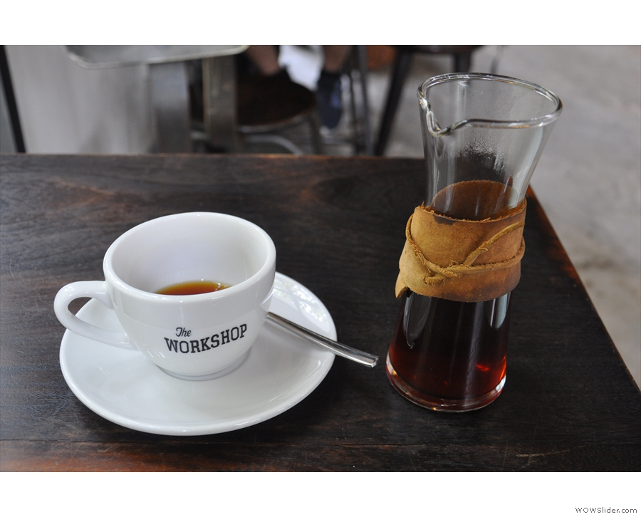 This was mine, by the way, a Vietnamese single-origin through the wood neck filter.