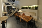 The view from the back. There's the communal table again...