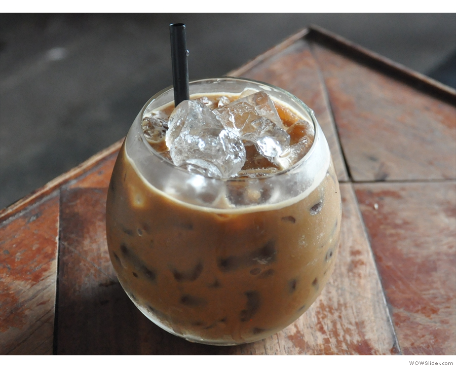 ... although not all of it, such as this iced coffee with condensed milk, was to my taste.