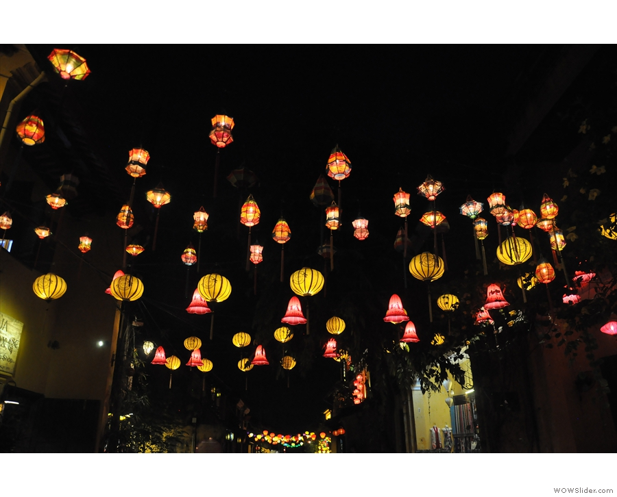 ... with its streets full of magical, coloured lanterns.