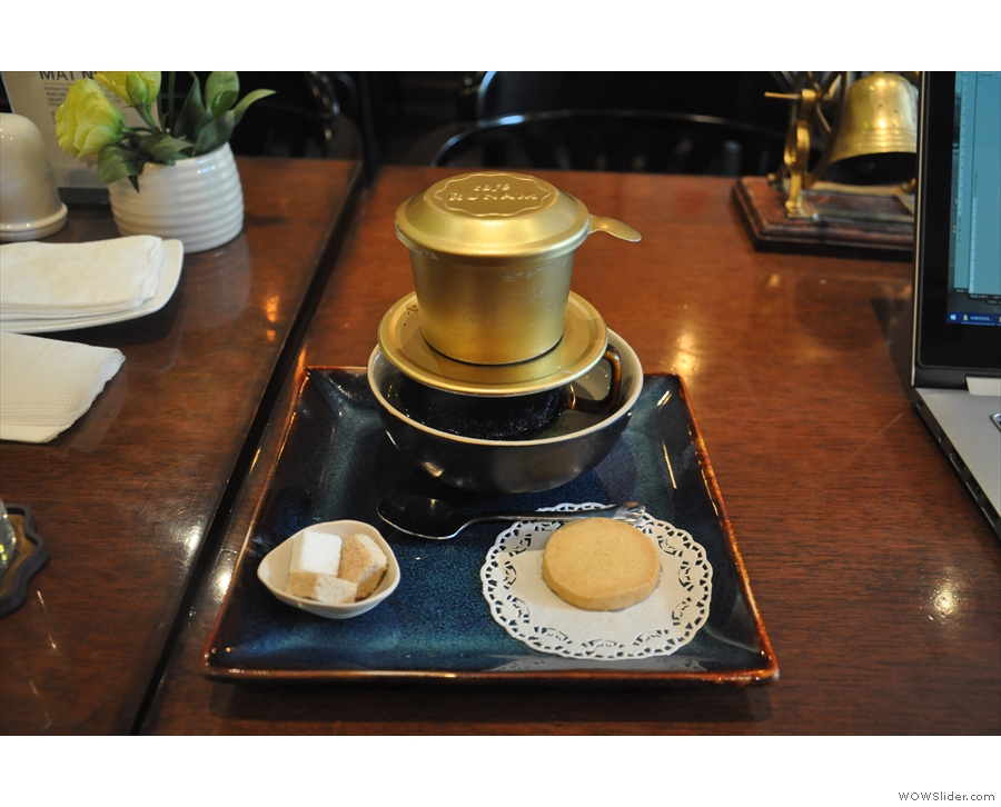 I continued explorating traditional Vietnamese coffee in the grand setting of RuNam...