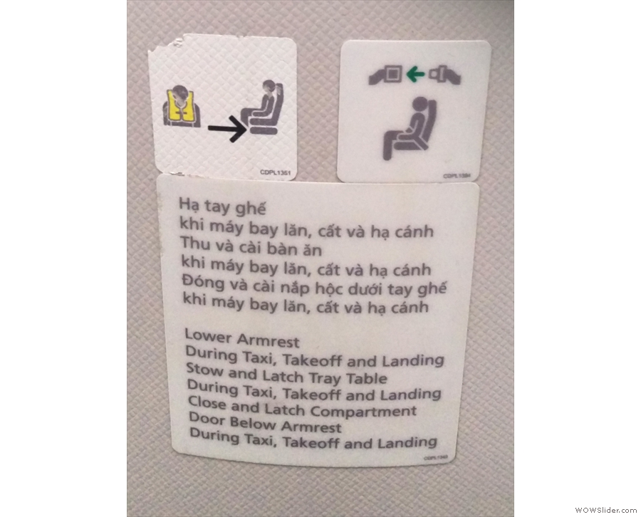 So many instructions though. It's not this complicated in economy!