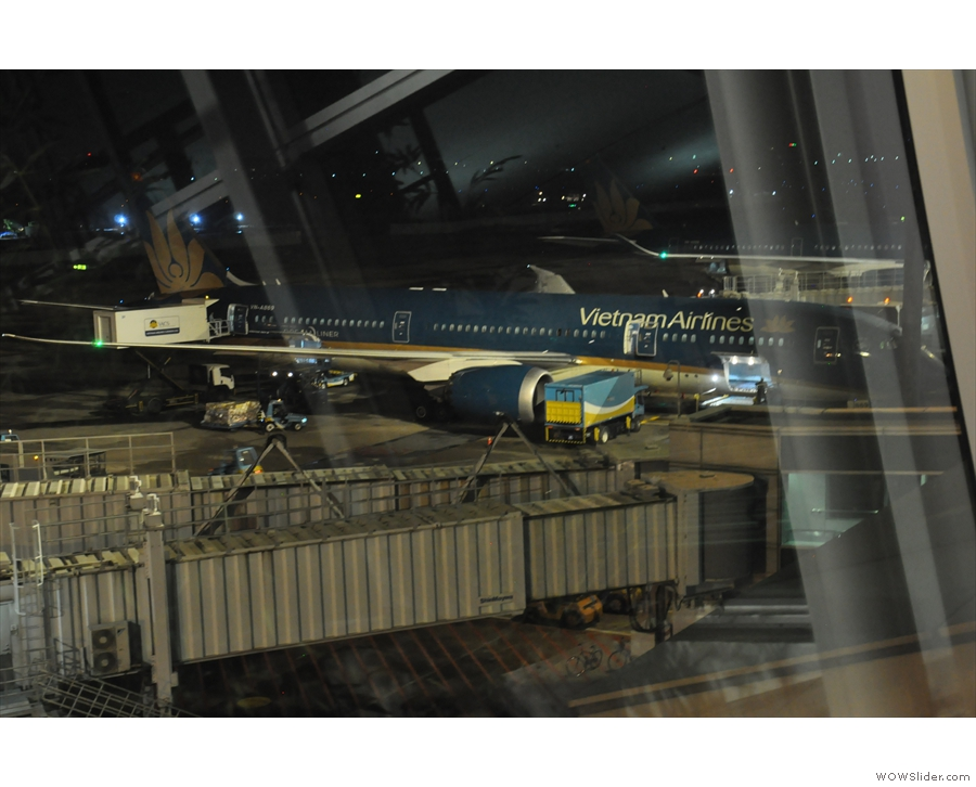 Not actually my plane, but one Vietnam Airlines 787 looks much like another.