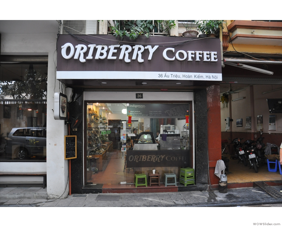 Just around the corner from my hotel in Hanoi's Old Quarter, you'll find Oriberry Coffee...