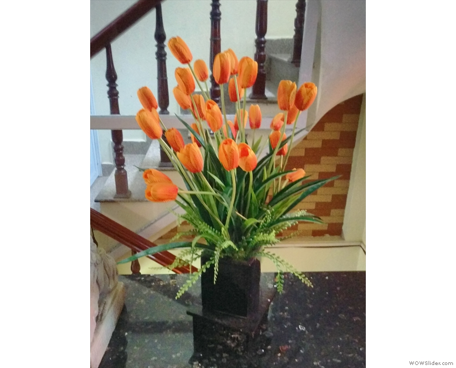 The Caffinet is full of nice touches, such as these flowers...
