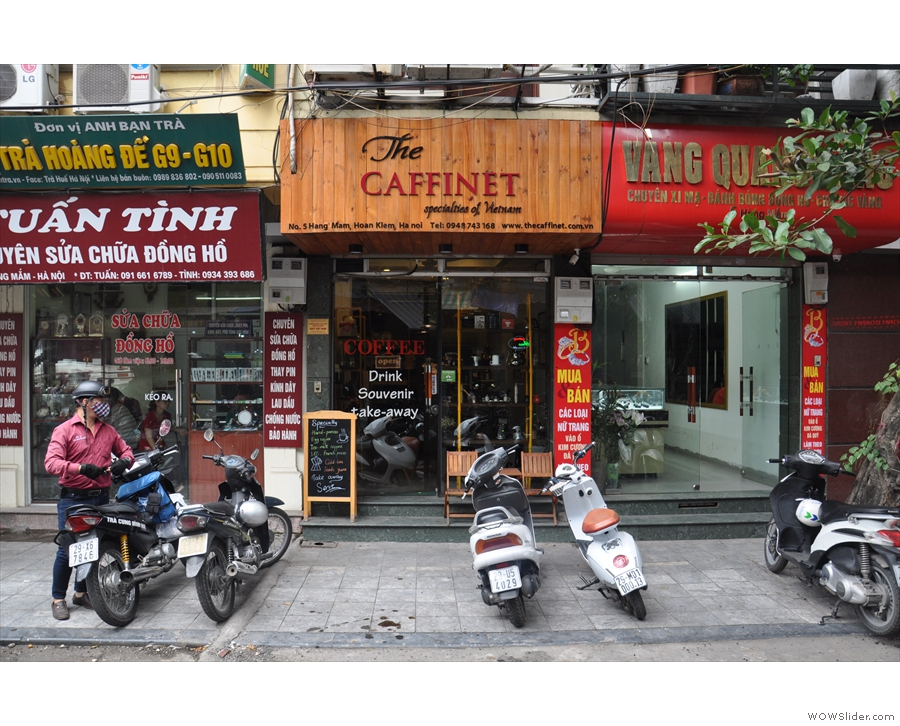 On a busy street on the northeast corner of Hanoi's Old Quarter stands The Caffinet.