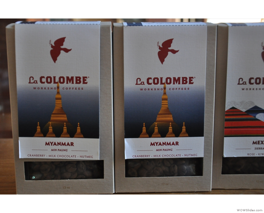 This one, in particular, caught my eye. I didn't know Myanmar grew coffee!