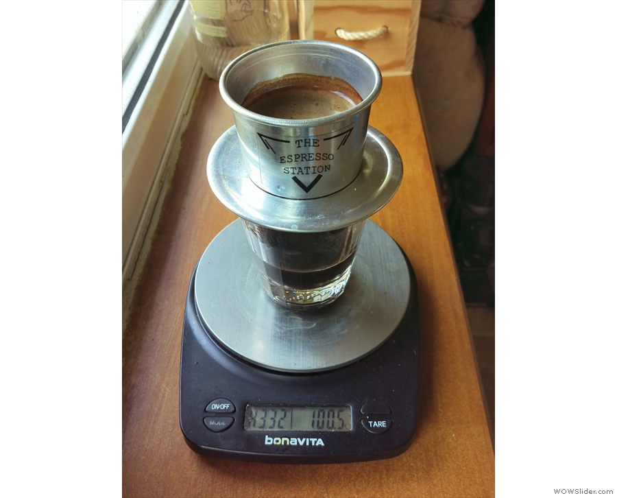 This method came in handy when I got home and had to use some pre-ground coffee...