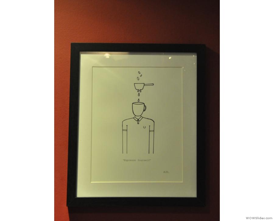 Another of Elliott's pieces: 'Espresso Yourself'.