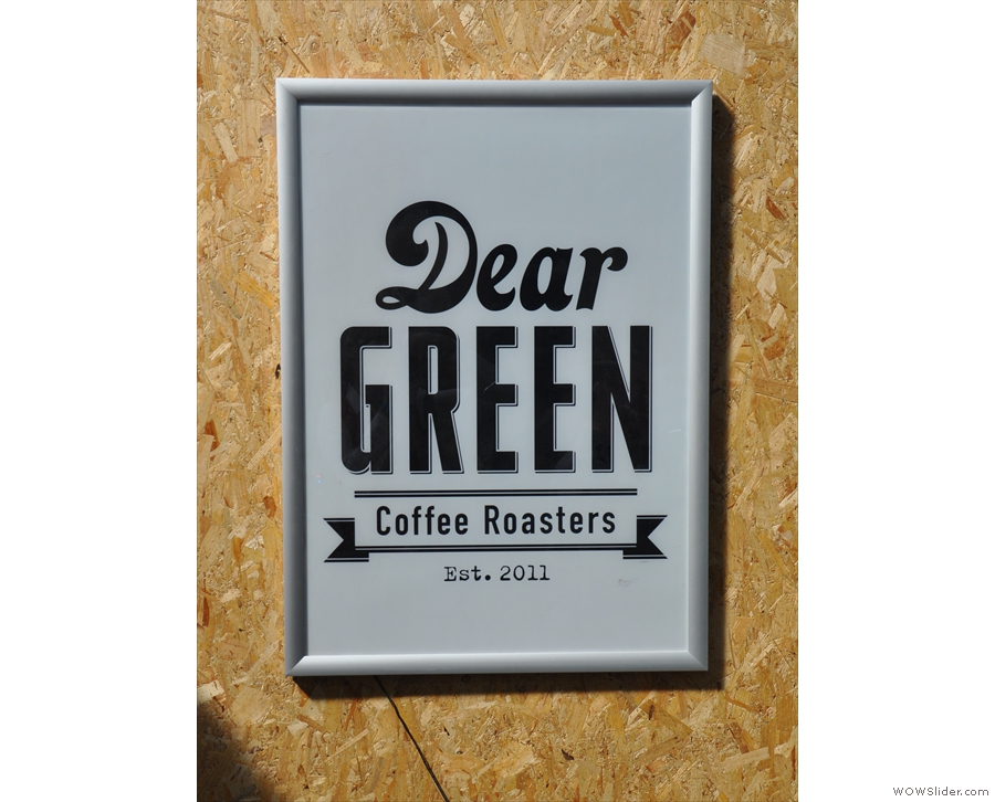 That's Glasgow's very own Dear Green Coffee if you haven't worked it out.