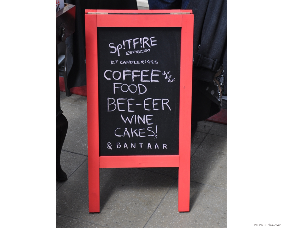 Since then, Spitfire's gone on to offer beer & wine, staying open later in the evenings.