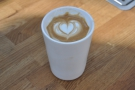 My flat white, in my Therma Cup.