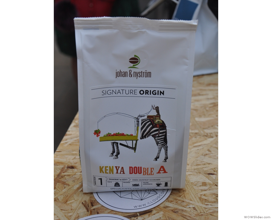 ... Sweden's Johan & Nystrom. This Kenya Double A was on the brew bar...