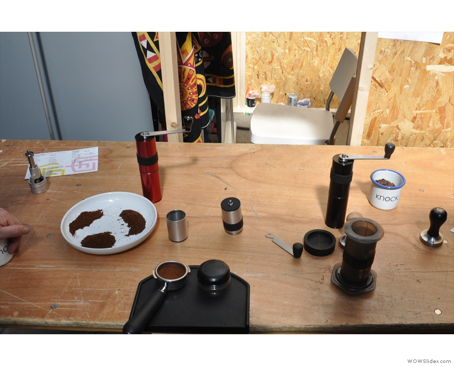 There are also two new products in the pipline, a tamper and a grinder.