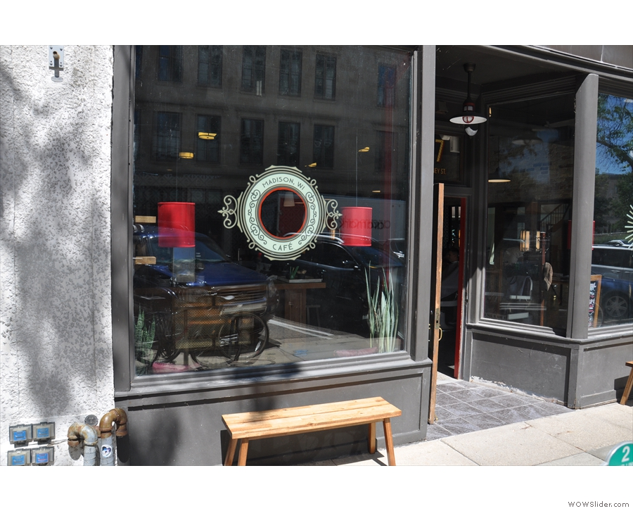 Ritual shares its space with its own coffee bar, with each having its own window.