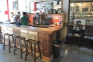 ... and seen here from the back, with four more bar stools down the side.