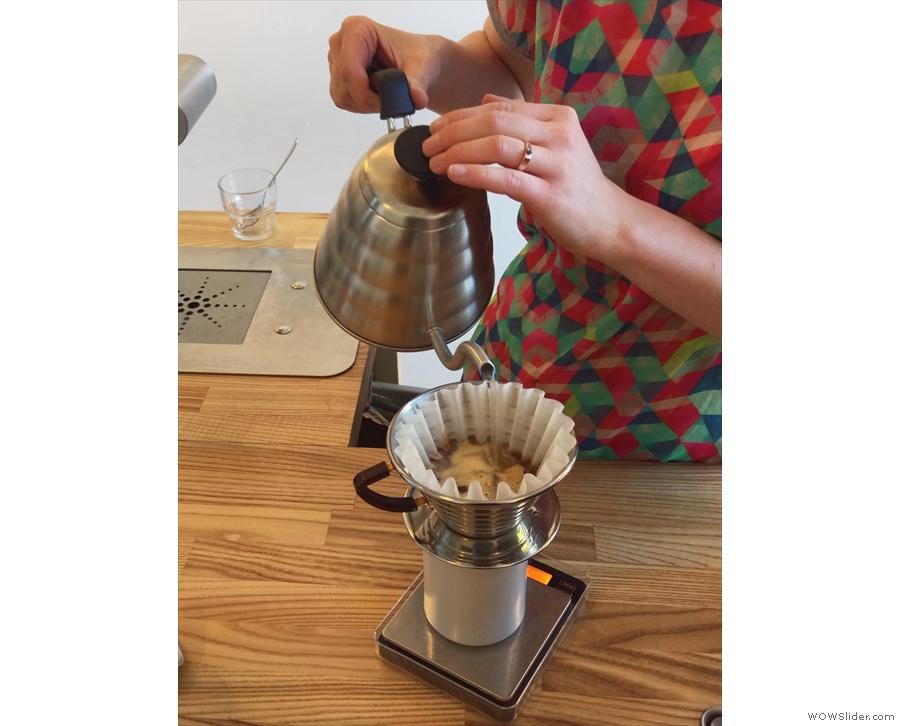 The Kaf employs the single-pour technique...