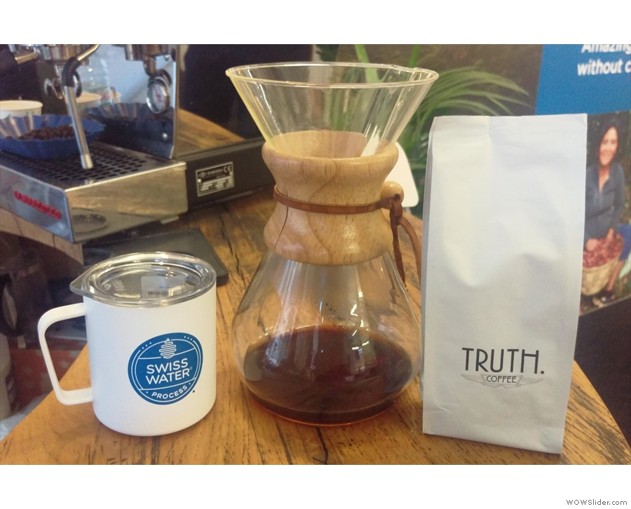 I also tried some decaf from South Africa roaster, Truth Coffee.