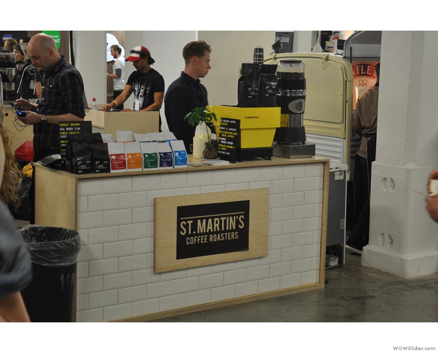 In no particular order, let's start in the Roasters Village with St Martin's Coffee.