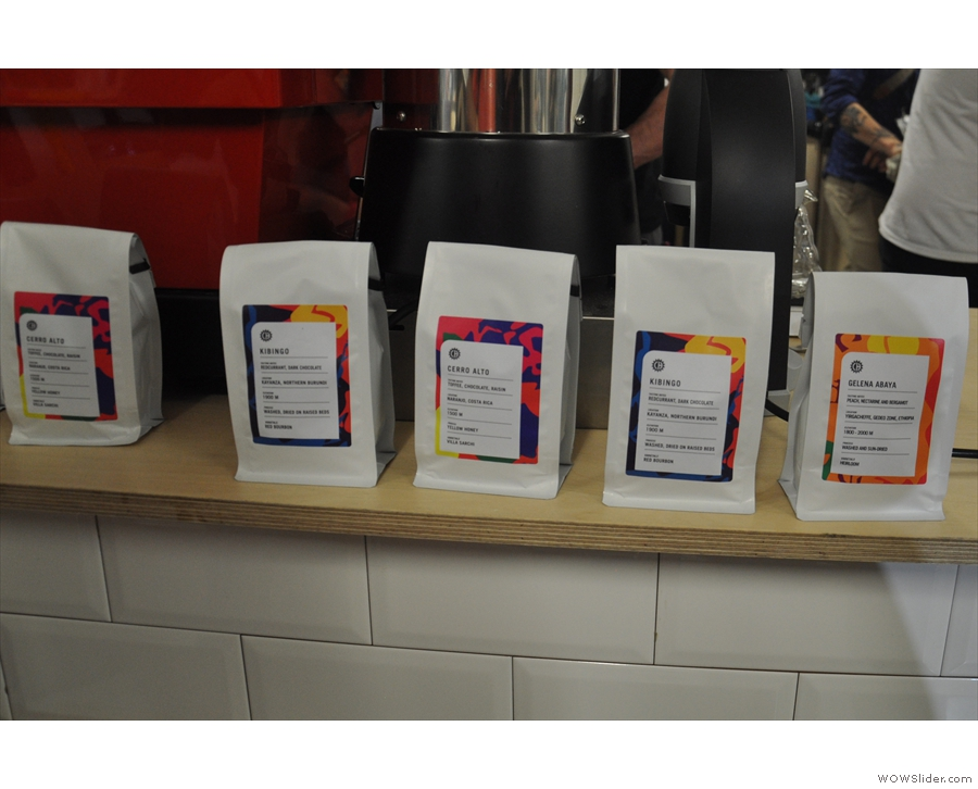 Crankhouse was offering an interesting range of single-origin coffees.