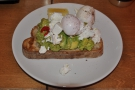 I couldn't resist the smashed avocado and poached eggs on toast.