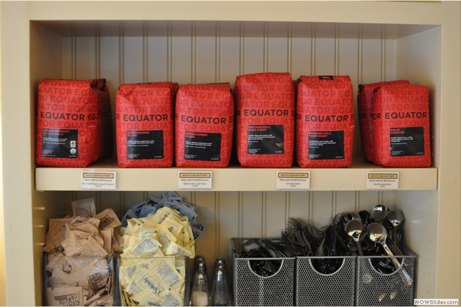 Some of the coffee on sale from suppliers, Equator.