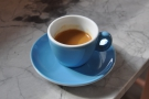 I put the Mavam to work and had a shot of Volcano's Full Steam espresso...