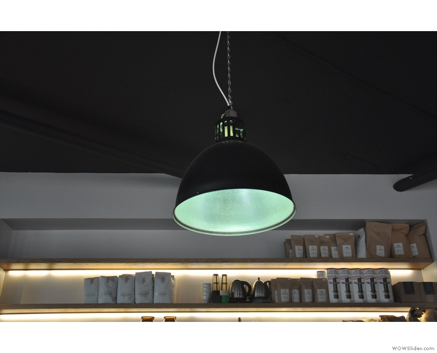 This is one of the lights hanging above the counter.