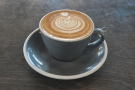 The result: a lovely flat white...