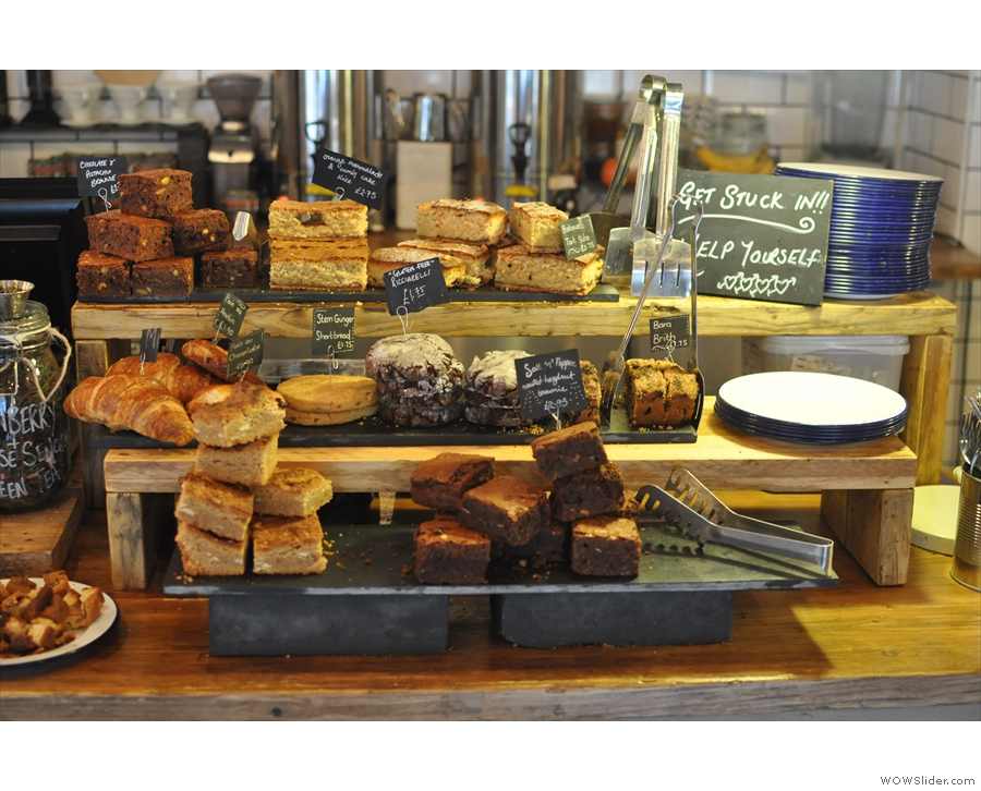 The cakes looked tempting too: 'get stuck in!!' hmmm... very tempting!