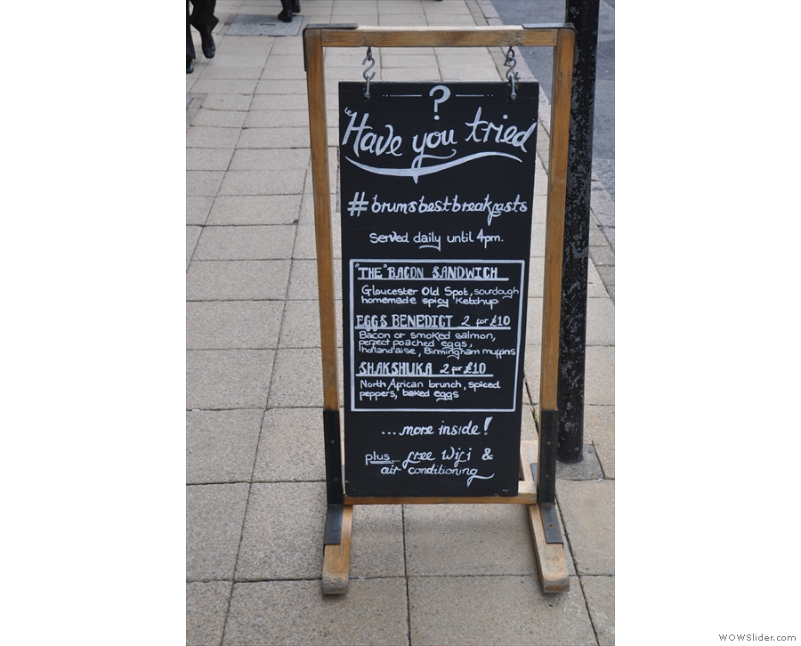 Yorks is clearly keen on its breakfasts. Others take note: served UNTIL 4PM!