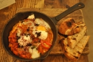 I've been working my way through the breakfast/brunch menu: shakshuka, for example.