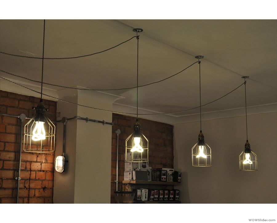 There are other, subtle changes. This was the lighting hanging above the counter in 2014...