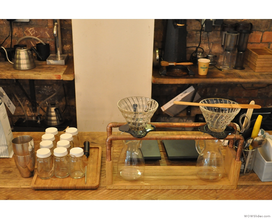 The brew bar, where the V60s are made...