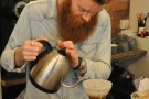 As ever with the V60, concentration when pouring is essential...