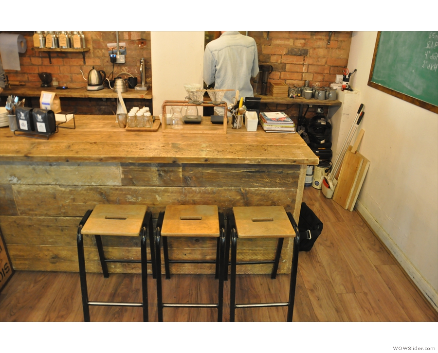 ... or grab a stool at the counter, by the brew-bar, to watch your filter coffee being made.