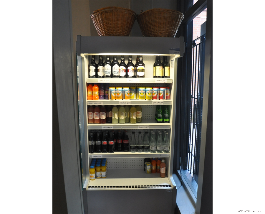 ... and cold drinks in the chiller to the right of the door.