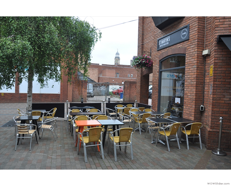 There's a large outside seating area, which is great when it's not raining.