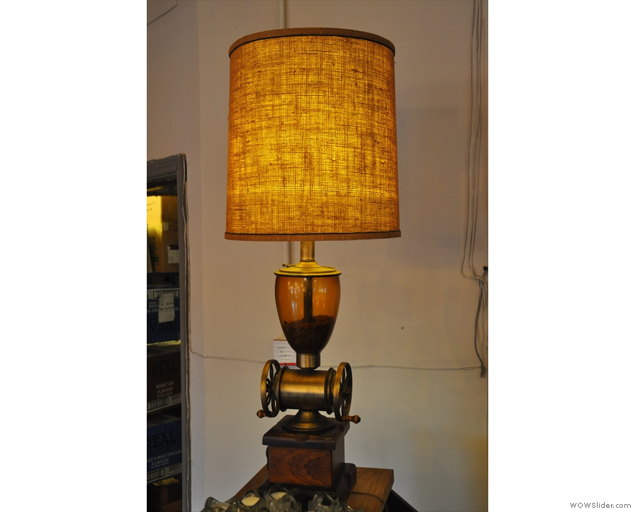 ... as well as this cracking coffee grinder / lamp!
