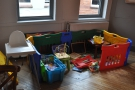 ... and a nice, sectioned off children's play area.
