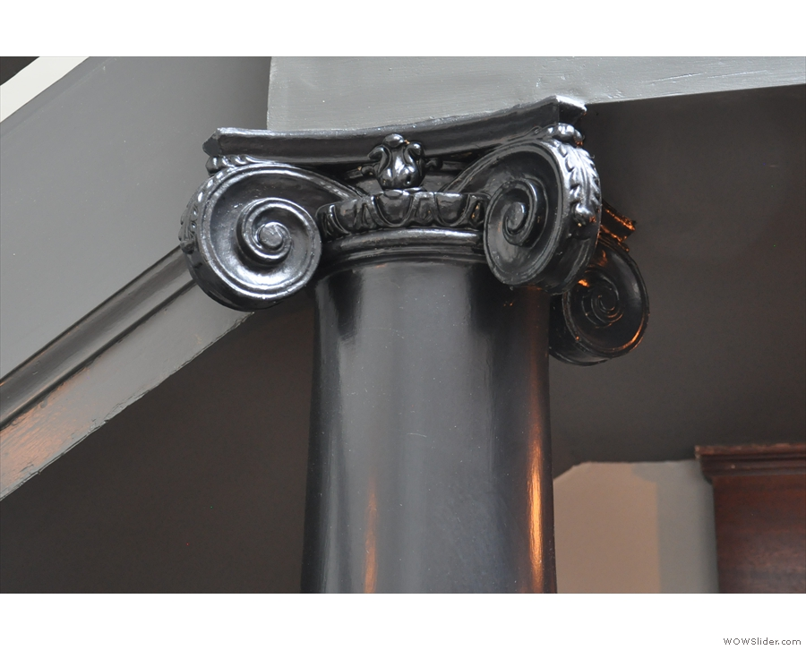 Talking of interesting features, how about this Ionic column holding up the balcony?