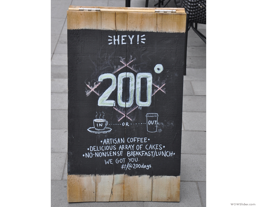 A typical 200 Degrees A-board.