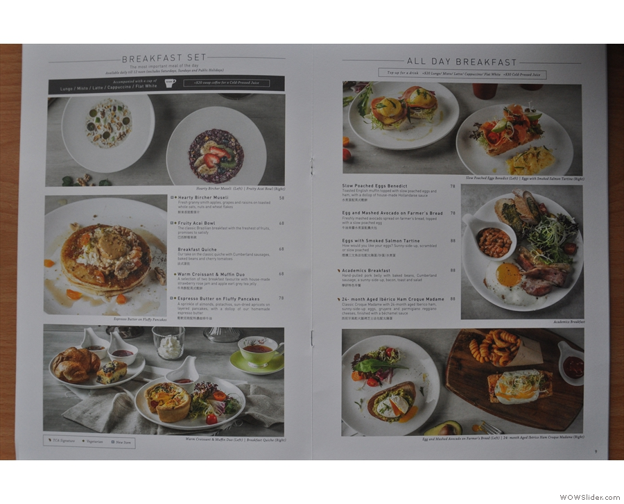 There are also pages and pages on the food.