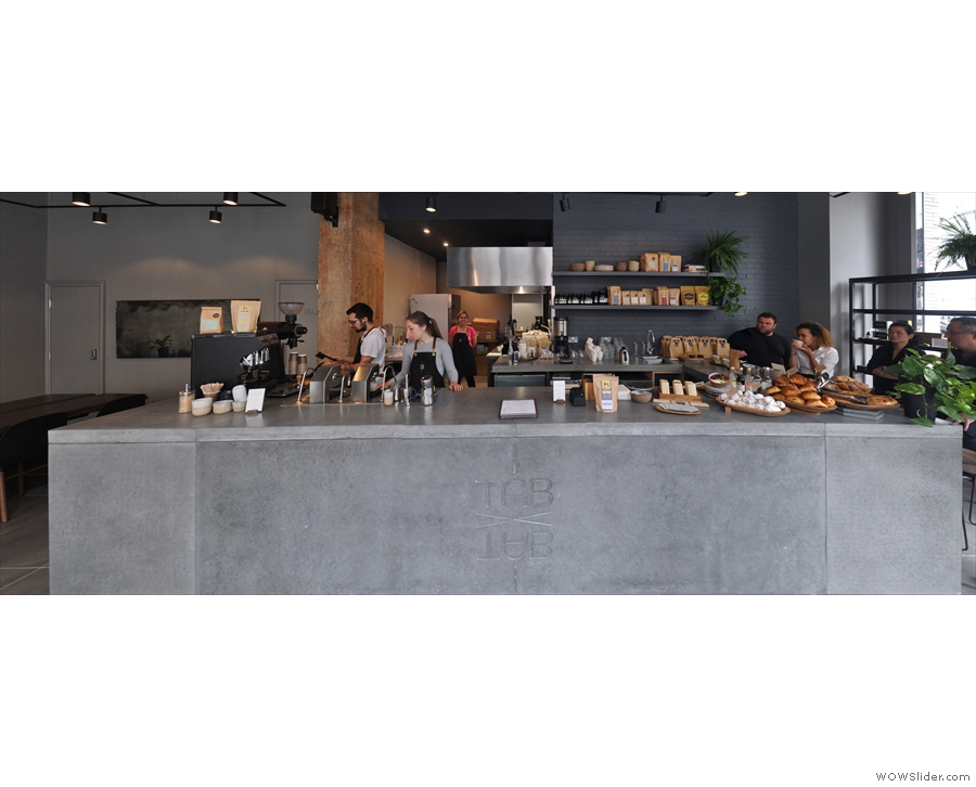 Although the staff will come to you, the concrete counter is worth a second look.
