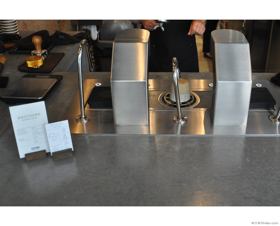 The actual selection is shown at the far end of the counter, down by the espresso machine.