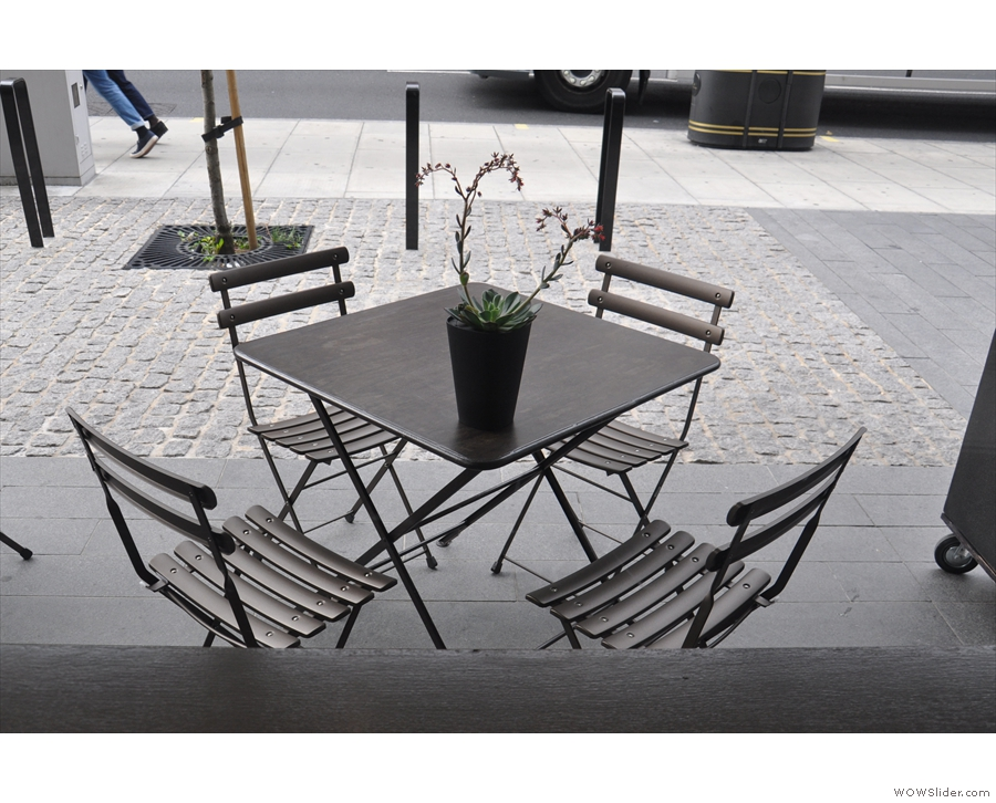 Alternatively, you can sit outside at one of the tables which catch the morning sun.