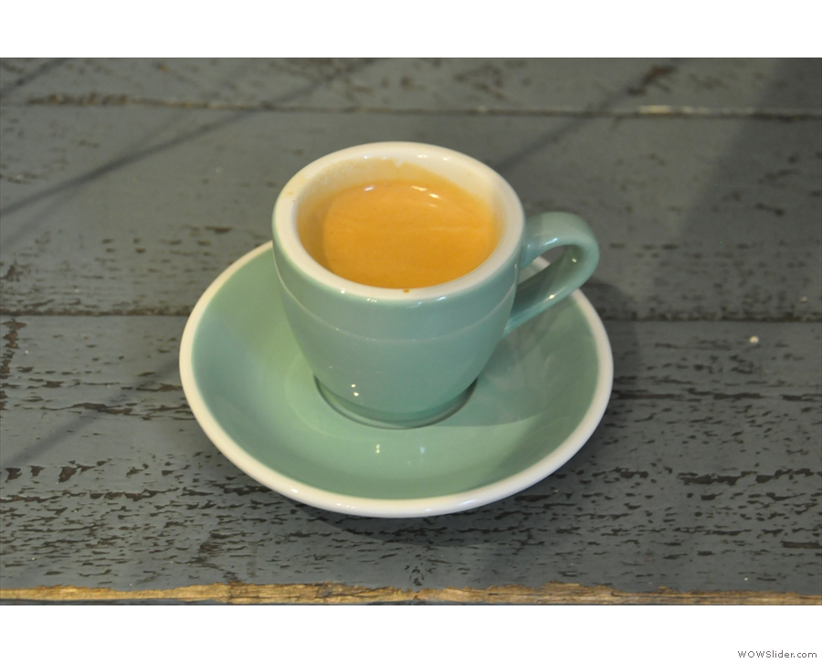 My espresso, an El Salvador single-origin.