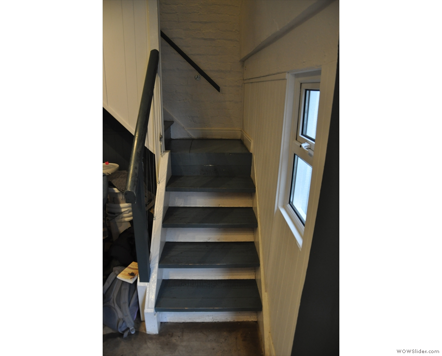 There's also a flight of stairs off on the right-hand side.